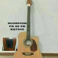 Jual Gitar Akustik Scorpion FG-60CE (eq 7545) import Murah