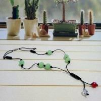Jual Kalung Vintage Green Glass Beads with Swarovski Murah