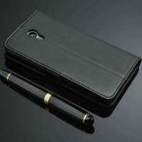 Jual Meizu M2 Note - Casing Leather Cover Armor Sarung Bumper Dompet Mewah Murah