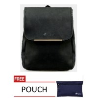 Jual Pulcher Rite Black - Gratis Pouch - Tas Kuliah Murah