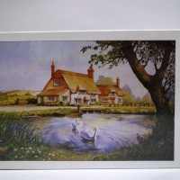 harga Nightilum Jigsaw Puzzle - White Swan And Cottage - 500 Pcs Tokopedia.com