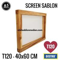 Alat Sablon Screen Kayu T120 40x60