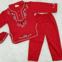Jual Baju koko bayi / muslim laki laki / koko anak bayi putih bordir Murah