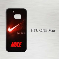 Casing Hp HTC One M10 Nike Red and Black X4236