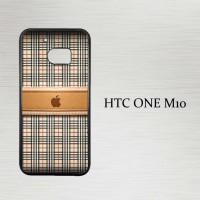 Casing Hp HTC One M10 Burberry Apple X4386