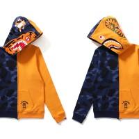 68935f846 Bape Color Camo Tiger Shark Half Full Zip Hoodie