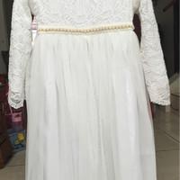 harga Gamis Dress Putih Brukat Brokat Anak Perempuan Cantik (7 - 10 Tahun) Tokopedia.com