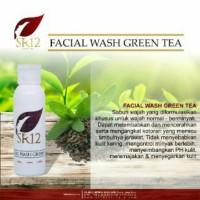 Jual SR12 Facial Wash Green Tea/sabun wajah herbal 100ml Murah