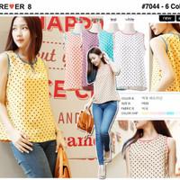 Jual Polkadot blouse-only lilac-7044 Termurah Murah