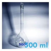Jual Labu Ukur / Volumetric Flask Clear With Glass Stopper 500 ml (Iwaki) Murah