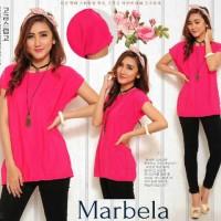 Jual Promo!! Blouse Marbella Sw Pakaian Wanita Atasan Twiscone Pink Fanta Murah