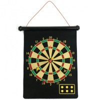 Jual Double Sided Hanging Magnetic Dart Board Set Game 17 Inch with 6 Magne Murah