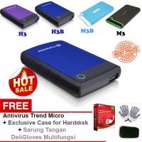 Jual HDD Eksternal - Portable Hdd 1TB H3B USB 3.0 TRANSCEND Murah