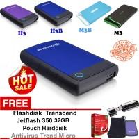 Jual Promo Transcend Ext HDD-Hardisk Eksternal 1TB H3B + Bonus Murah