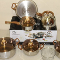Jual Panci eco cookware oxone stainless stenless steal set bagus serbaguna Murah