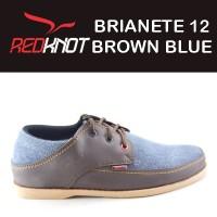 Jual SEPATU REDKNOT BRIANETE 12 BROWN BLUE DENIM biru jeans coklat Murah
