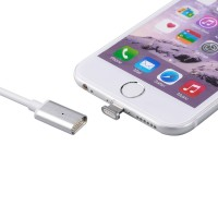 Jual 2in1 Kabel Charger Magnetic Micro USB & Lightning for Smartphone-Silve Murah