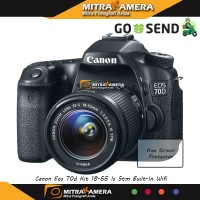 Kamera Canon EOS 70D Kit 18-55 IS STM (Built-In Wifi)