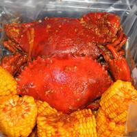 Kepiting Medium Saus Padang Lada Hitam Blackpepper Telur Asin Tiram