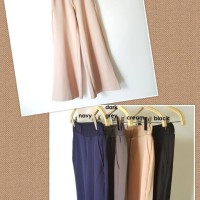 Wanita 13109 Celana Long Cullotes Kulot Panjang Wedges Big Size XL