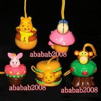 Jual Yujin Winnie the Pooh figure cosplay Plant strap gashapon (full set 5 Murah