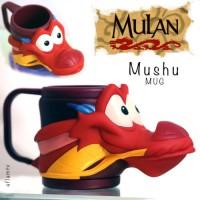 Jual Mushu NEW Chinese Dragon Figural Cup 3D Mug Mulan Disney Rare Applause Murah