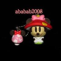 Jual Yujin Disney Minnie cosplay Mushroom keychain figure gashapon (one fig Murah