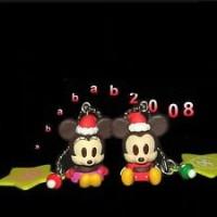 Jual Yujin Mickey & Minnie figures Cosplay Santa Claus keychain gashapon (2 Murah
