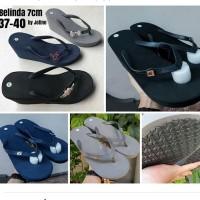Sandal wedges belinda dengan pin /popits kw