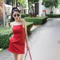 Jual Simple Bodycon Sleeveless Mini Dress Murah