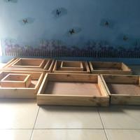 Jual kotak seserahan kayu model rustic / shabby chic Murah