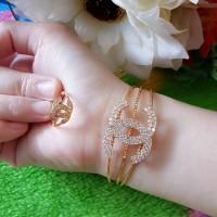 Jual perhiasan xuping set gelang cincin Murah