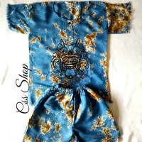 Jual Setelan Baju Bali Barong Anak (2-4th) Biru Tua Uk.M Murah
