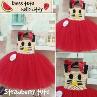 Jual dress tutu hello kitty Murah