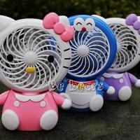 Jual Kipas angin portable charger karakter Doraemon & Hello kitty Murah