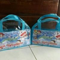 Jual tas souvenir ultah anak model busur karakter doraemon Murah