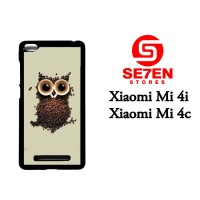 Jual Casing Xiaomi Mi4i coffee owl Custom Hardcase  Murah