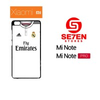 Casing HP Xiaomi Mi Note, Mi Note Pro real madrid white 2 Custom Hardc