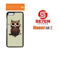 Jual Casing Xiaomi Mi5 coffee owl Custom Hardcase  Murah