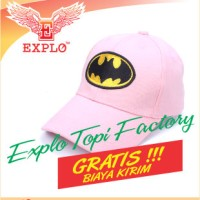 Jual Topi Baseball Batman Pink Topi Bordir Topi Raphel Baseball Murah