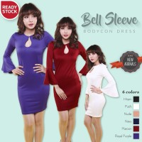 Jual KP3804 Bell Sleeve Bodycon Sexy Dress Gaun Pakaian W KODE TYR3860 Murah