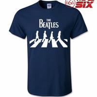 Jual Kaos / T-Shirt - The Beatles : Abbey Road - NAVY Murah