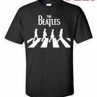 Jual Kaos / T-Shirt - The Beatles : Abbey Road - BLACK Murah