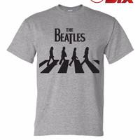 Jual Kaos / T-Shirt - The Beatles : Abbey Road - GREY Murah
