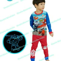 Piyama Anak Kids Karakter Super Wings Sgw-8| Baju Tidur Anak