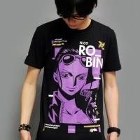 Jual Kaos Anime One Piece Nico Robin Gold XL Murah