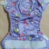 Jual Cloth Diapers Clodi Rumparooz Owl Purple + 2 insert microfiber Murah