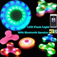 FIDGET SPINNER LED RAINBOW BLUETOOTH MP3 ANDROID HAND SPINER PELANGI