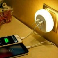 Jual Lampu Tidur LED - Dengan Sensor Cahaya dan 2 Port USB Murah