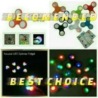 PROMO!!!LED FIDGET SPINNER/SPINNER DENGAN LAMPU LED BERWARNA